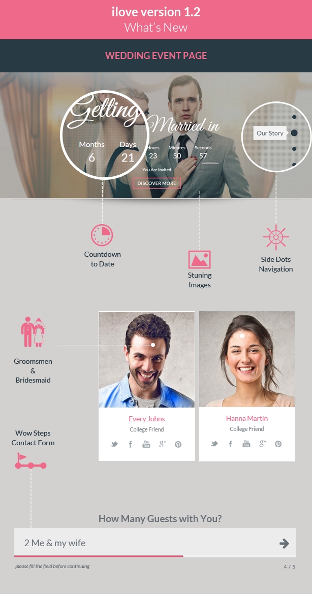 ilove -  Love Story HTML Wedding Template