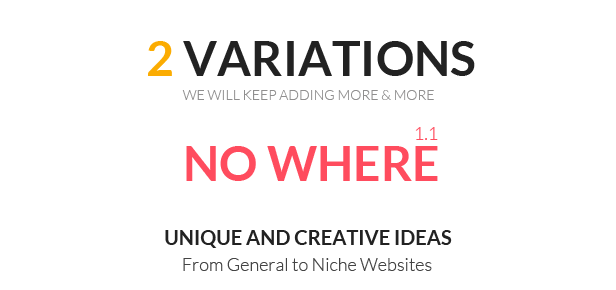 No Where - Responsive Creative 404 Error Template