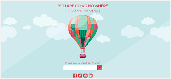 No Where - Responsive Creative 404 Error Template - 6